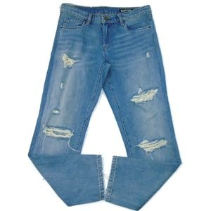 BlankNYC The Ludlow 27 Distressed Straight Jeans